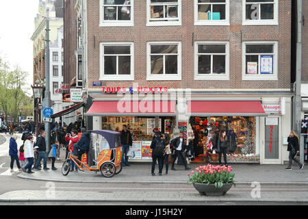 Tours and Tickets office, Amsterdam, Netherlands - Stock Photo
