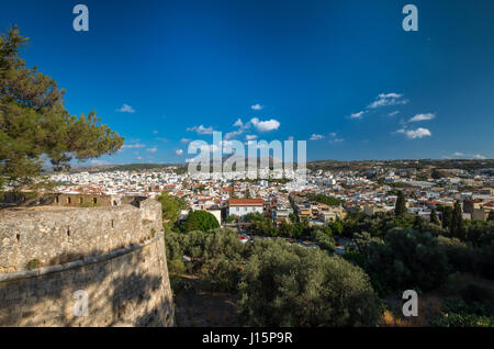 View of Rethymno town from fortress Fortezza. - Stock Photo