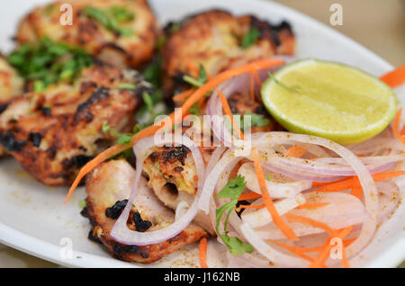 Chicken Malai Tikka Boneless piece, Indian dish. - Stock Photo
