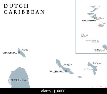 Netherlands Antilles Curacao map Stock Photo Royalty Free Image