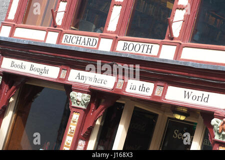 Hay on Wye, Powys, Wales - The Richard Booth secondhand bookshop in Hay-on-Wye UK - Stock Photo