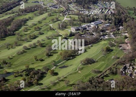 aerial view of Rudding Park golf course & hotel, Harrogate, Yorkshire, UK - Stock Photo