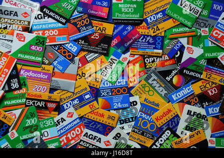 Analogue film brands - Stock Photo
