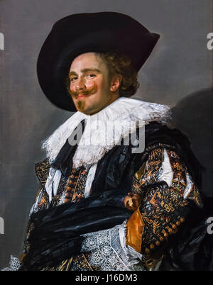 The Laughing Cavalier by Frans Hals (c.1582-1666), oil on canvas, 1624 - Stock Photo