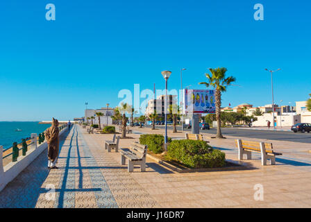Seaside promenade, Dakhla, Western Sahara, administered by Morocco, Africa - Stock Photo