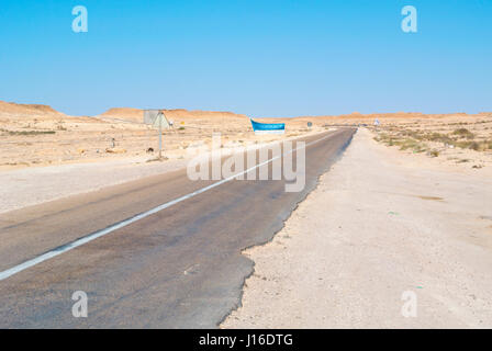 N1 road, between Boujdour and Dakhla, Western Sahara, administered by Morocco, Africa - Stock Photo