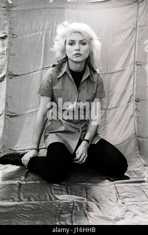 Debbie Harry of Blondie photographed in Philadelphia while on a press tour to promote the album Parallel Lines, - Stock Photo