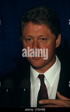 William Jefferson 'Bill' Clinton (born William Jefferson Blythe III, August 19, 1946)[1] was the 42nd President - Stock Photo