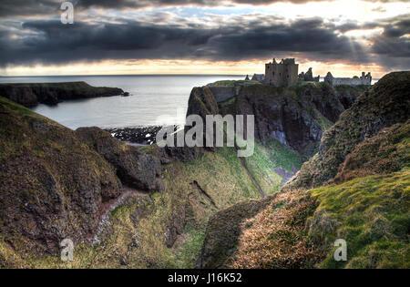 dunnottar castle scotland - Stock Photo