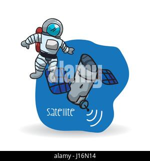 Space design. science icon. Isolated illustration , vector - Stock Photo