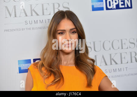 New York, USA. 17th Apr, 2017. Actress Jessica Alba attends the 2017 Success Makers Summit at Spring Place on April - Stock Photo