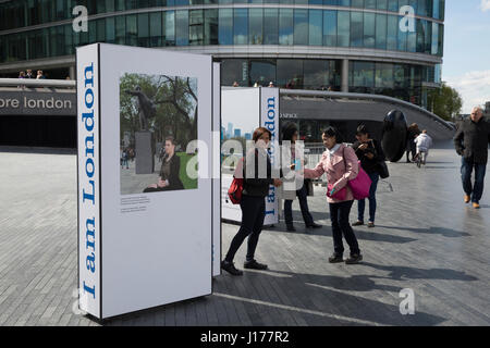 London, UK. 18th Apr, 2017. I am London photographic exhibition by City Hall Credit: Keith Larby/Alamy Live News - Stock Photo