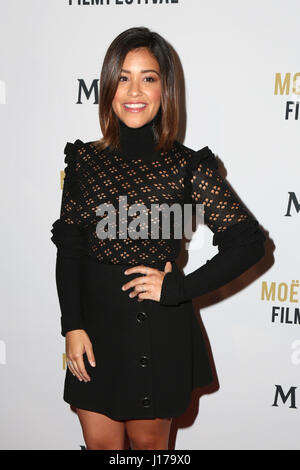 West Hollywood, CA, USA. 3rd Jan, 2017. LOS ANGELES - JAN 4: Gina Rodriguez at the 2nd Annual Moet Moment Film Festival - Stock Photo