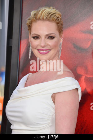 Los Angeles, USA. 18th Apr, 2017. Katherine Heigl 018 arriving at the Unforgettable Premiere at the TCL Chinese - Stock Photo