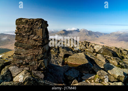 Snowdon from Moel Siabod - Stock Photo