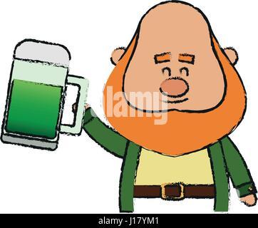 Irish leprechaun icon - Stock Photo
