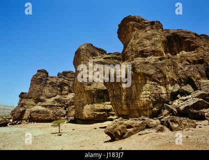 king solomon's pillars in Timna Park north of Eilat. Isreal. Middle East - Stock Photo