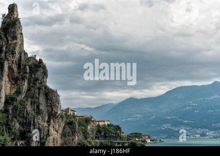 The lake of Iseo near Lovere (Bergamo, Lombardy, Italy) at summer - Stock Photo