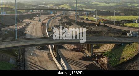 M8 missing link construction work, Glasgow, Scotland, United Kingdom - Stock Photo
