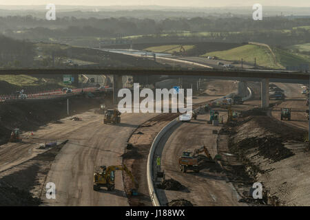 M8 missing link construction work, Glasgow, Scotland, United Kingdom - Stock Photo