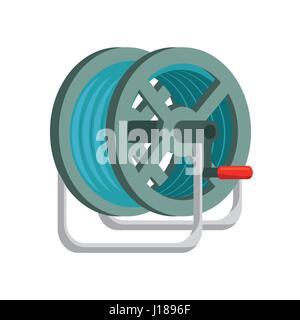 gardening hose isolated icon - Stock Photo