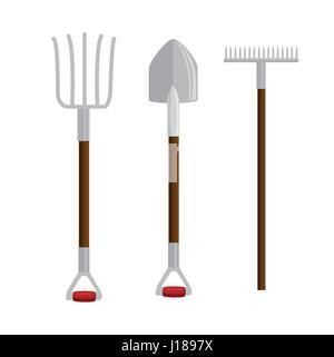 gardening set tools icons - Stock Photo