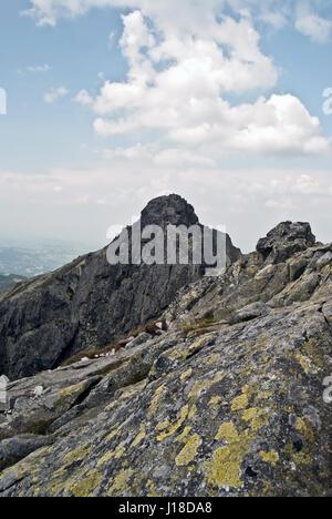 Hiking Trail Zakopane Carpathian Mountains Poland Europe Stock - This man hikes up the transylvanian mountains every morning to photograph sunrise