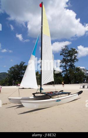 Hobie catamaran sail boat on Patong beach, Phuket, Thailand - Stock Photo