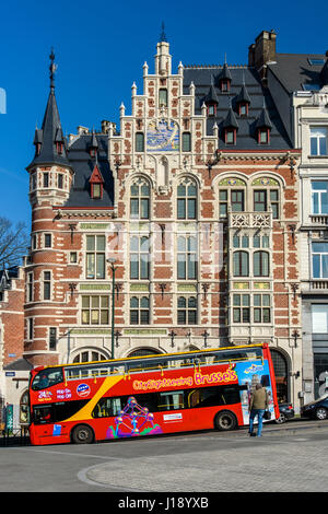 City Sightseeing bus, Brussels, Belgium - Stock Photo