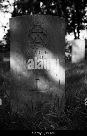Unidentified war grave - Stock Photo
