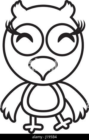 cartoon owl animal outline