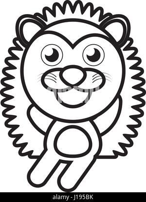 cartoon porcupine animal outline - Stock Photo