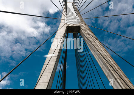 Anzac bridge view from the road. - Stock Photo
