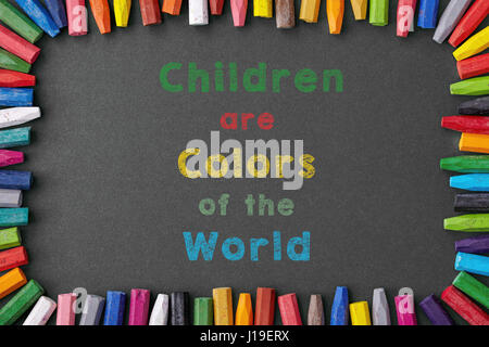 children are colors of the world - Stock Photo