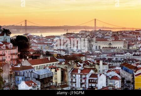 Lisbon - Lisboa cityscape, Portugal - Stock Photo