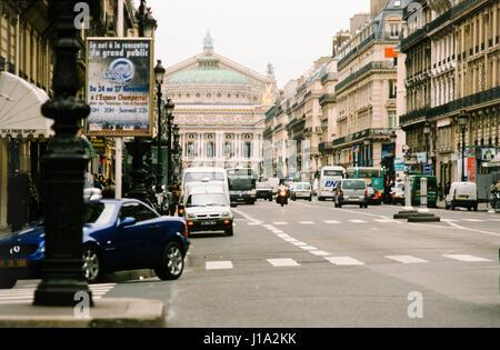 Cars on city street. - Stock Photo