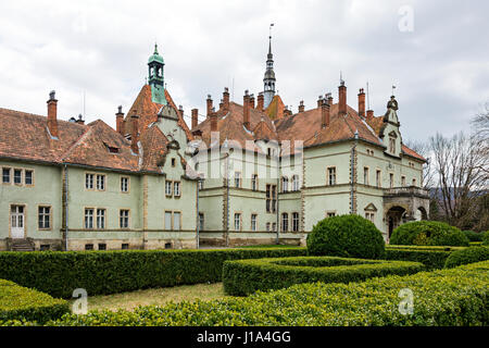 Hunting castle of Count Schonborn in Carpaty. In the past - Beregvar Village, Zakarpattja Region, Ukraine. Built - Stock Photo