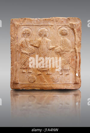 6th 7th Century Terracotta Carved Plaque With Early Christian Stock