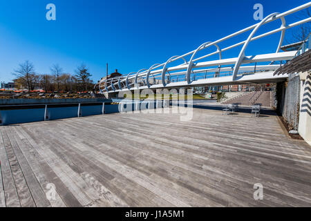 Anacostia Riverwalk trail in DC on a clear day - Stock Photo