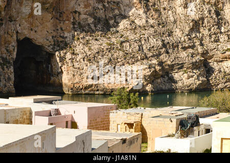 Inland Sea, Qawra, Dwejra Bay, Gozo, Malta - Stock Photo