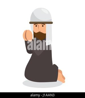 prayer avatar isolated icon - Stock Photo