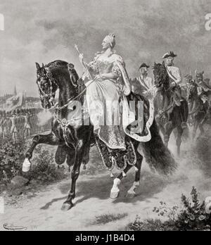 Maria Theresa Walburga Amalia Christina, 1717 – 1780.  Only female ruler of the Habsburg dominions and the last - Stock Photo