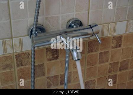 Bathroom tap. Bathroom faucet. - Stock Photo
