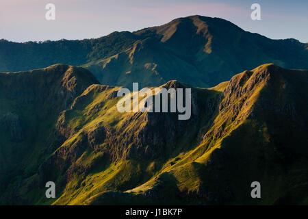 Beautiful early morning light on beautiful mountains in Altos de Campana National Park, Cordillera Central, Republic - Stock Photo
