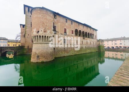 The Rocca Sanvitale (Sanvitale Castle) in Fontanellato, Emilia-Romagna, Italy - Stock Photo
