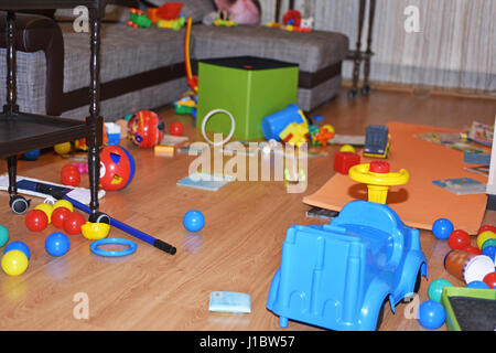A mess in the children's room. - Stock Photo