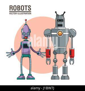 robots artificial intelligence image - Stock Photo