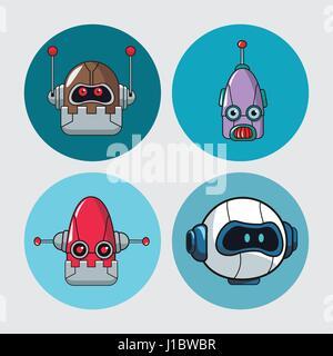 set head robots mechanical technologies - Stock Photo