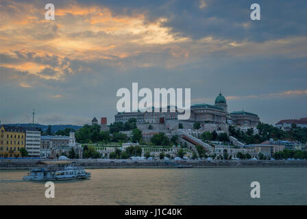 Budapest is a beautiful city split by the mighty Danube river - Stock Photo