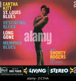 Front cover of the record sleeve for the UK EP St. Louis Blues by Eartha Kitt. Issued on the RCA label in 1958. - Stock Photo